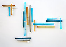 Intersection Series by Christopher Jeffries (Art Glass Wall Sculpture)
