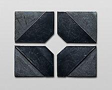 Small Series Diamond by Nell Devitt (Ceramic Wall Sculpture)