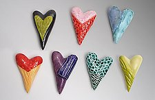 Hearts by Marilee Hall (Ceramic Wall Sculpture)