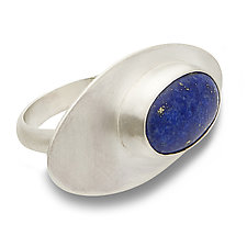 Lapis Oval Ring by Rina S. Young (Silver & Stone Ring)