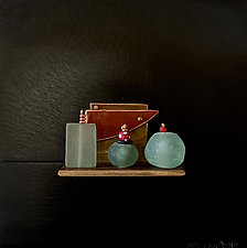 Bronze Still Life 84 by Jack McLean and Alice McLean (Metal Wall Sculpture)