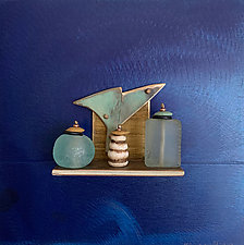 Bronze Still Life 87 by Alice McLean (Bronze Wall Sculpture)
