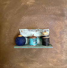 Bronze Still Life 86 by Alice McLean (Metal Wall Sculpture)