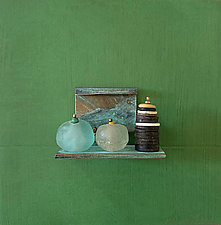 Bronze Still Life 81 by Alice McLean (Metal Wall Sculpture)