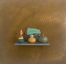 Bronze Still Life 105 by Alice McLean (Bead & Bronze Wall Sculpture)