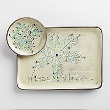 Winter Wonder Plate and Bowl Set by Noelle VanHendrick and Eric Hendrick (Ceramic Platter)