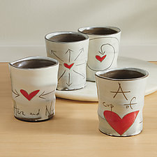 Cups of Love by Noelle VanHendrick and Eric Hendrick (Ceramic Drinkware)