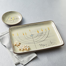 Miracles Plate and Bowl Set by Noelle VanHendrick and Eric Hendrick (Ceramic Platter)