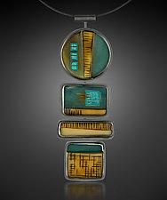 Totem Pendant Necklace by Karen Klinefelter (Silver & Stone Necklace)