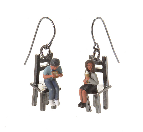 People on Small Chairs Earrings