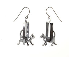 Cat Earrings by Kristin Lora (Silver Earrings)