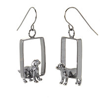 Large Breed Dog Earrings by Kristin Lora (Silver Earrings)