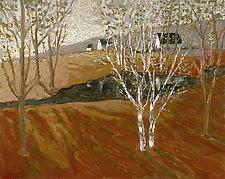 Birch Tree Pond by Robert Ferrucci (Giclee Print)