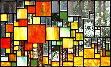 Through the Trees by Josephine A. Geiger (Art Glass Wall Sculpture)