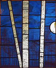 Half Moon Rising by Josephine A. Geiger (Art Glass Wall Sculpture)