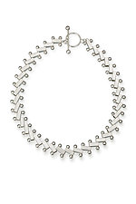 Heavy Stairway Necklace by Jennifer Chin (Silver Necklace)