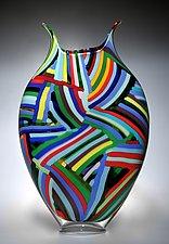 Bauhaus Foglio by David Patchen (Art Glass Sculpture)