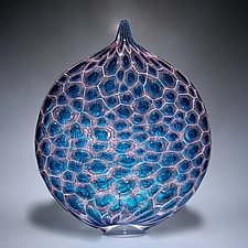 Cell Glow Ellipse by David Patchen (Art Glass Sculpture)