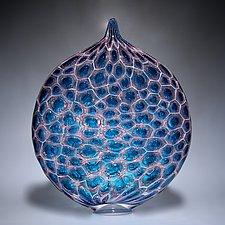 Cell Glow Ellipse by David Patchen (Art Glass Sculpture)