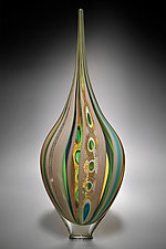 Taupe Resistenza by David Patchen (Art Glass Vessel)