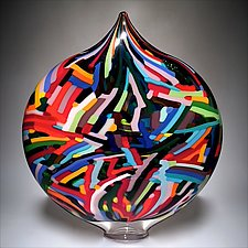 Bauhaus Ellipse by David Patchen (Art Glass Sculpture)