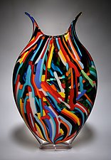 Bauhaus Foglio by David Patchen (Art Glass Vessel)