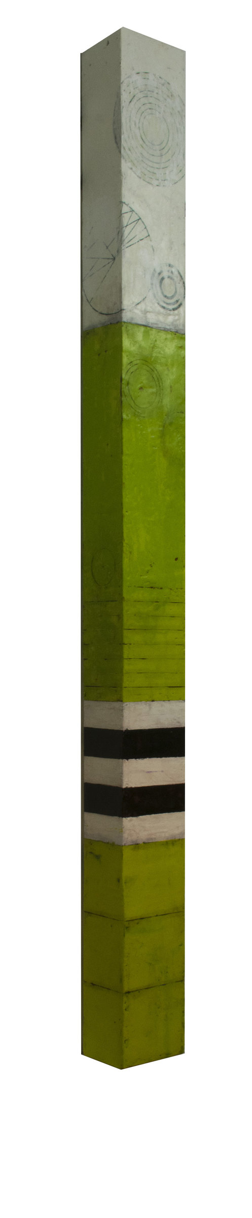 Chartreuse Wall Column