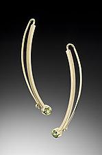 Face Framer Earrings by Ilene Schwartz (Gold & Stone Earrings)