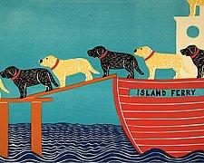 Island Ferry by Stephen Huneck (Giclee Print)