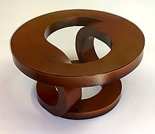 Burnt Umber Coffee Table by John Wilbar (Wood Coffee Table)