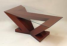 Triangle Coffee Table by John Wilbar (Wood Coffee Table)