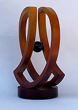 Indigo Sphere by John Wilbar (Wood Sculpture)