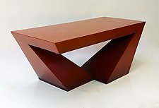 Delta Coffee Table/Bench by John Wilbar (Wood Coffee Table)