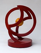 Red-O by John Wilbar (Wood Sculpture)