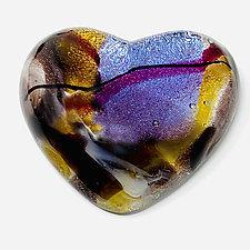 Purple Heart by Sarinda Jones (Art Glass Paperweight)