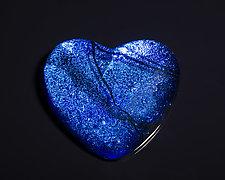 Blue Heart by Sarinda Jones (Art Glass Paperweight)