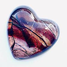 Warm Heart by Sarinda Jones (Art Glass Paperweight)