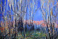 Walk in the Woods by Judy Hawkins (Oil Painting)