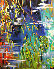 Willow Branches by Judy Hawkins (Oil Painting)