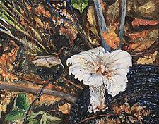 September Shroom by Judy Hawkins (Oil Painting)