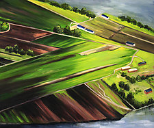 Flyover 2 by Judy Hawkins (Oil Painting)