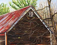 Black Walnut Tree in Fall by Judy Hawkins (Oil Painting)