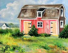 Governor's Barn by Judy Hawkins (Oil Painting)