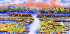 Flood Plain by Judy Hawkins (Oil Painting)