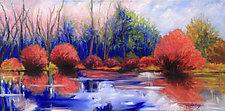 Town Farm Bog II by Judy Hawkins (Oil Painting)