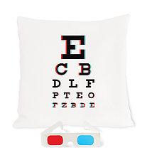 3D Eye Chart Pillow by Heather Lins (Fiber Pillow)