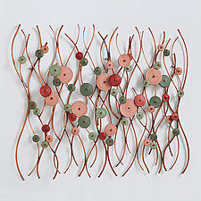 Ebb and Flow by Hannie Goldgewicht (Mixed-Media Wall Sculpture)