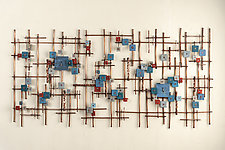 Constellations by Hannie Goldgewicht (Mixed-Media Wall Sculpture)