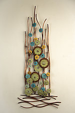 Growth by Hannie Goldgewicht (Mixed-Media Wall Sculpture)