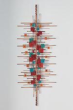 Autumn Arpeggio by Hannie Goldgewicht (Mixed-Media Wall Sculpture)